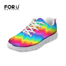 Women Rainbow Colors Breathable Holes Sneakers Slip On Casual Shoes Sports
