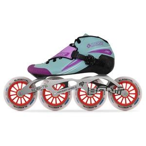 Image 5 - 2019 الأصلي Bont Jet 2PT سرعة حذاء تزلج بعجلات heatmoltable الكربون التمهيد 4*90/100/110 مللي متر 6061 عنصري عجلة التزلج Patines