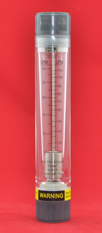 LZM-25G Pipeline water/air acrylic rotameter industy flow meter[5-30GPM/20-110LPM] Female 1BSP or NPT