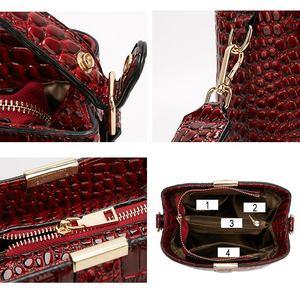 Image 5 - Diinovivo retro jacaré padrão balde bolsa feminina sacos de couro patente para as mulheres bolsa pequena bolsa de ombro carteira whdv1157