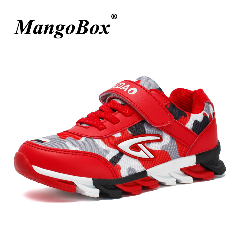 Kid Shoes Children Boys Red Royal Blue Boys Sneakers Branded Childrens Running Shoes for Boys Top Quality Athletic Shoes Kids