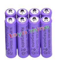 цена на 8x AAA 1800mAh 3A 1.2 V Ni-MH Purple Rechargeable Battery Cell for MP3 RC Toys