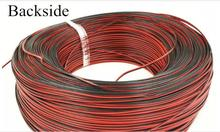 30 Meters-Tinned copper 24 AWG, 2 pin cable,Stranded wire PVC insulated wire, LED Strip cable Electric Extend Wire