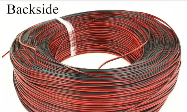 30 Meters-Tinned copper 24 AWG, 2 pin cable,Stranded wire PVC insulated wire, LED Strip cable Electric Extend Wire 1m 15mm flat tinned copper braid sleeve screening tubular cable diy