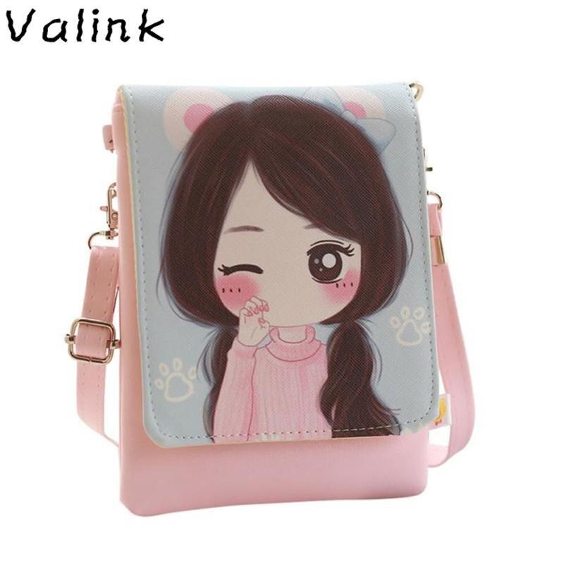 Valink Shoulder Bags kids & Cartoon Kids Girls Mini Crossbody Bag wallets for girls childrens purse bolsa feminina