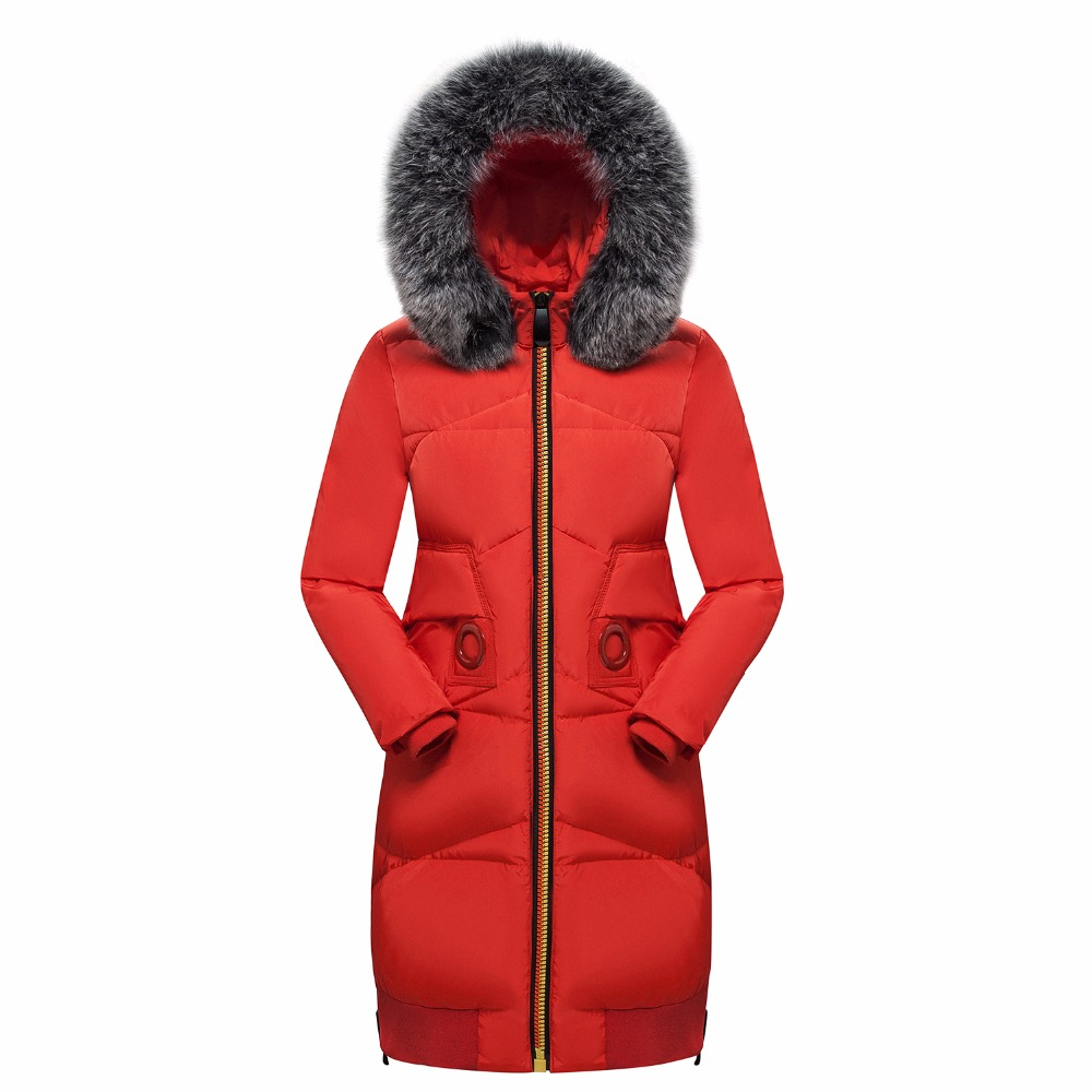 купить Warm Fur Collar Jacket Coat Plus Size Hooded Overcoat Slim Fashion High Quality Zippers Ladies Clothing Cotton-Padding MY0013 дешево