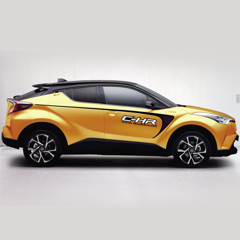 World Datong car styling sport car sticker For Toyota C HR Exterior Body Decal Car Vinyl Film decals auto sticker in Car Stickers from Automobiles Motorcycles