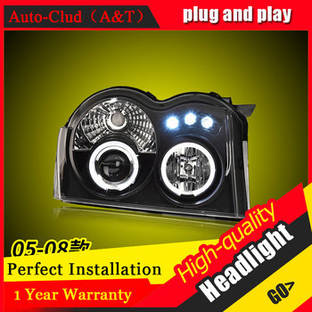 Auto Clud Car Styling For Grand Cherokee headlights For Grand Cherokee head lamp led DRL front Bi-Xenon Lens Double Beam HID KIT