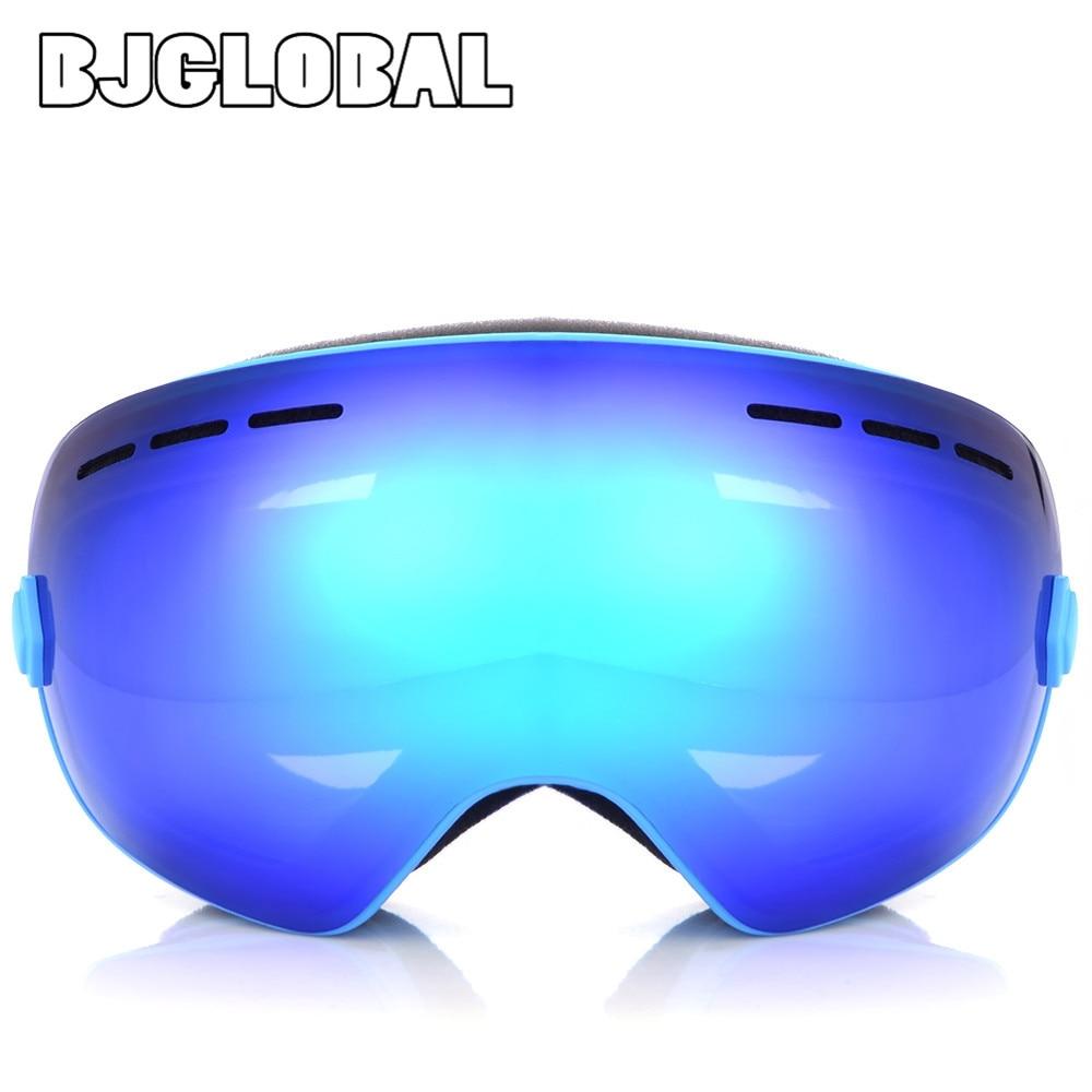 Bjglobal Мотокросс лыжные очки двойные линзы UV400 Анти-туман очки Гибкая Лыжный Спорт Снег Сноуборд очки мотоцикл очки