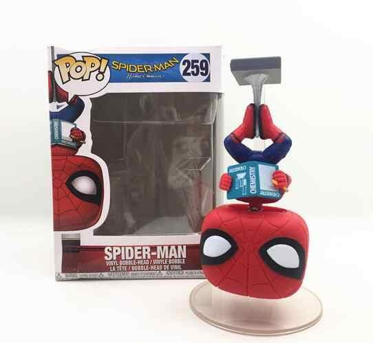 Funko POP Anime Spider Man Herói 2 Animação Coleção Modelo Brinquedos Do Menino Movie Action Figure Brinquedos Para Presente de Crianças