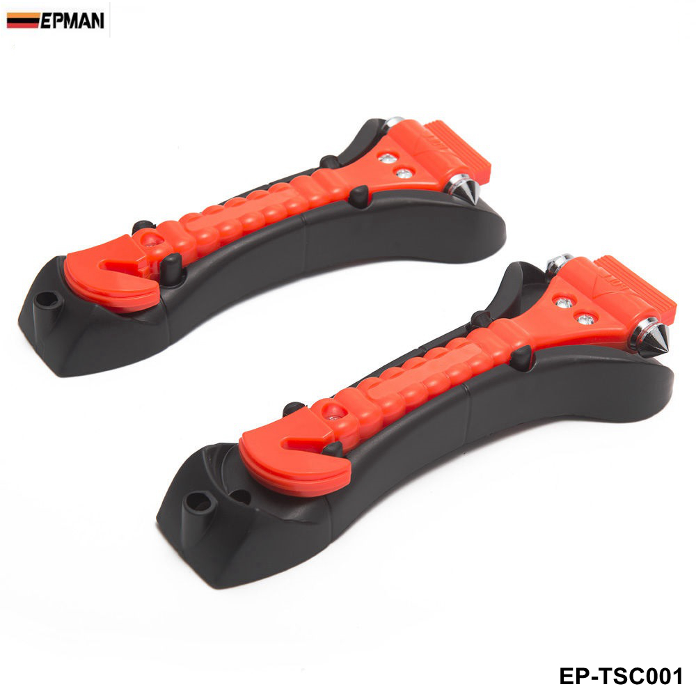 1Pair Car Window Glass Seat Safety AUTO Emergency Life-Saving Hammer Belt Cutter EP-TSC001-AF