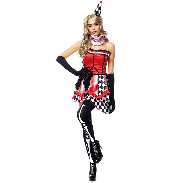 Uniform Costume Dress Costume cosplay Halloween Circus Clown Suit actress clothing DS nightclub set party carnival funny set  sc 1 st  Aliexpress & Online Shop Uniform Costume Dress Costume cosplay Halloween Circus ...