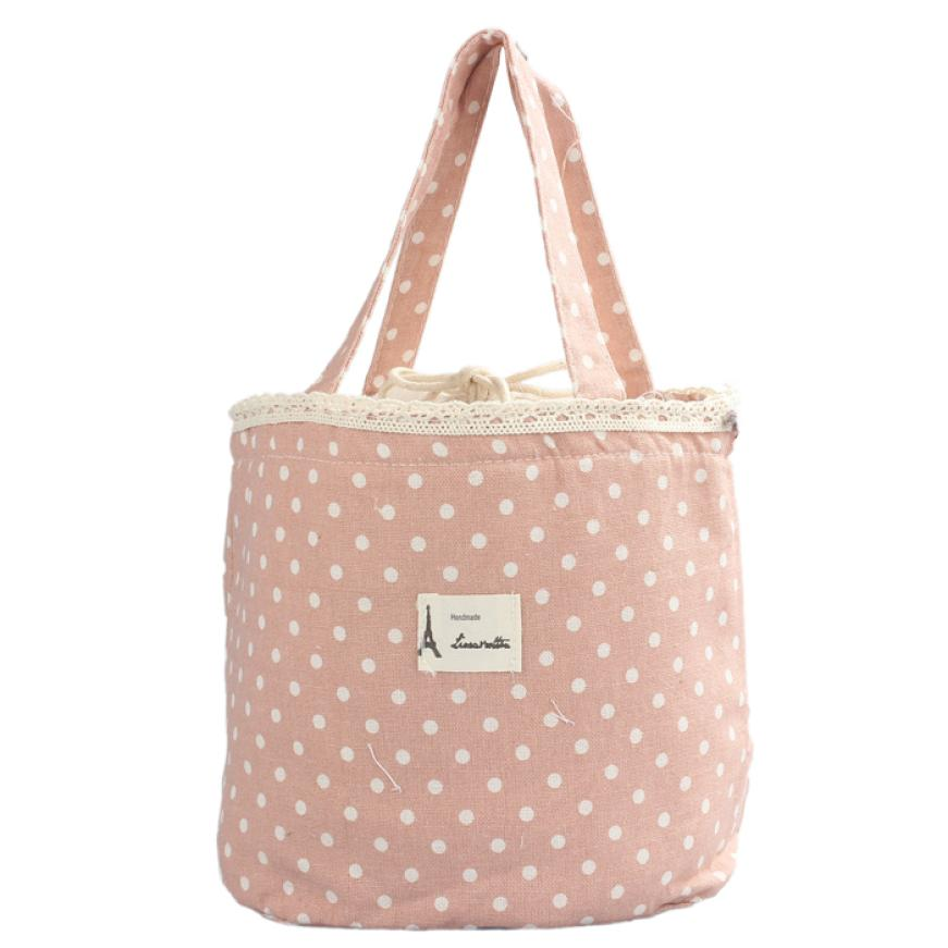 Hot Sale Thermal Insulated Lunch Box Tote Cooler Linen Cotton + Aluminum Bag Bento Pouch Lunch Container For To Work 23May 25