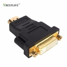 DVI Ke HDMI Adaptor Converter DVI 24 + 5 Male TO HDMI Female Converter untuk HDTV LCD Komputer PC DVD proyektor untuk PS3 PS4 TV Box(China)