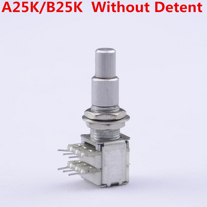 1 Piece GuitarFamily A25K/B25K Stacked Dual Concentric Potentiometer(POT) Without Center Detent ( #1124 ) MADE IN KOREA все цены