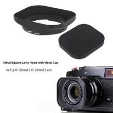 CNC Alüminyum alaşım Kare Lens Hood ile Kap için Fuji FUJINON Lens XF 35mm/F2, XF 23mm/F2