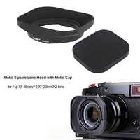 CNC Aluminum alloy Square Lens Hood with Cap for Fuji FUJINON Lens XF 35mm/F2, XF 23mm/F2
