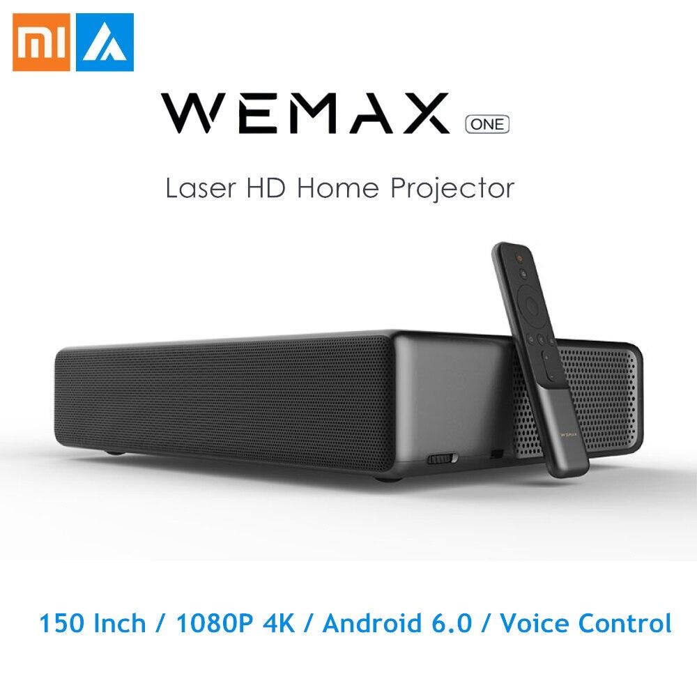 Projecteur Laser d'origine Xiaomi WEMAX ONE PRO 7000/5000 Lumens 150 ''1080 P FHD 4K Android 6.0 BT4.0 2.4/5GHz WiFi Home cinéma