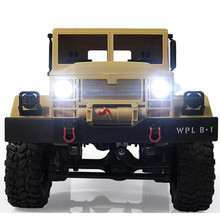 WPLB-14 2.4GHz 1/16 Toy Grade 4WD RC Military Truck Wireless Radio Remote Control Car High-Speed Car Anti Knock OC23A