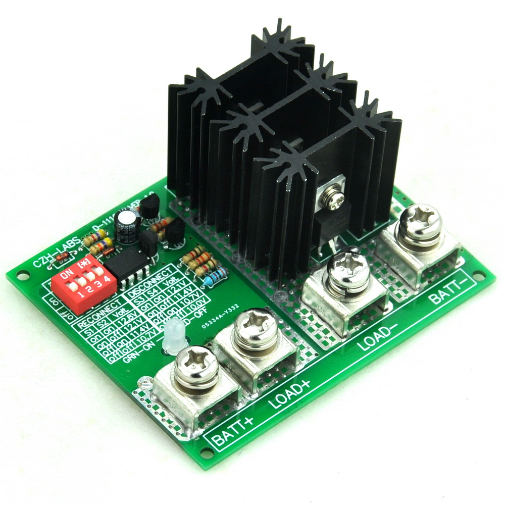 Low Voltage Disconnect Module LVD, 12V 80A, Protect/Prolong Battery Life.