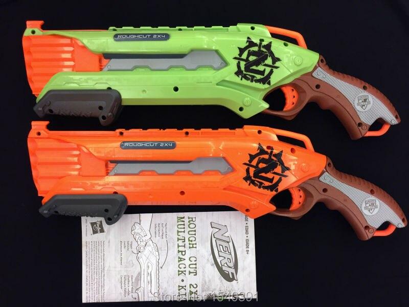 Origional Nerf gun/ Nerf Zombie Strike Rough Cut 2 pack GREEN & ORANGE  BLASTERS + 24 DARTS AMMO-in Toy Guns from Toys & Hobbies on Aliexpress.com  | Alibaba ...