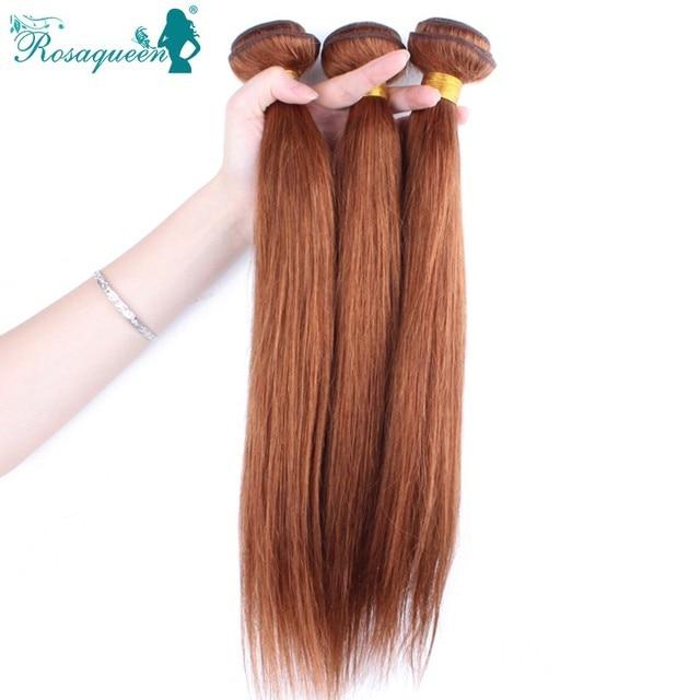 Brazilian Virgin Human Hair Bundles 3pcs Brazilain Straight Virgin Hair Extensions Weave Pure Color Rosa Queen Hair Products