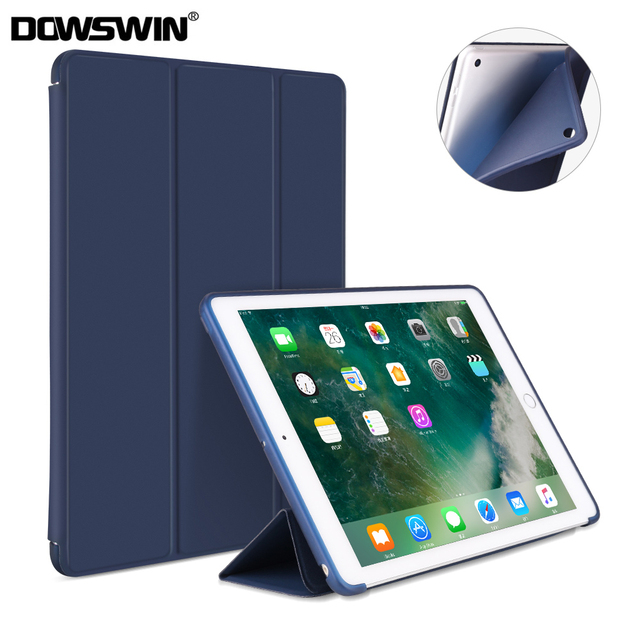 separation shoes 900f7 96702 US $8.95 16% OFF|DOWSWIN Case For New iPad 9.7 2018 2017 TPU Leather Case  Soft Silicone Cover for iPad 2018 Smart Case 9.7 Inch A1822 A1893-in  Tablets ...