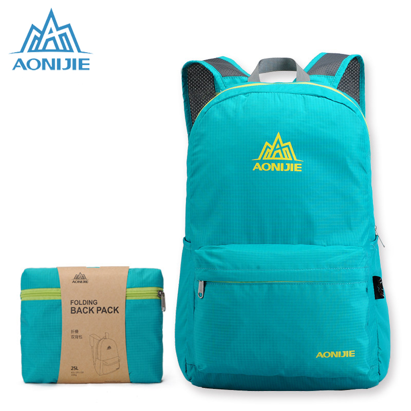 AONIJIE Folding <font><b>Backpacks</b></font> For Men Women Sports Outdoor Bag Nylon Bags Lightweight Running Cycling Travelling <font><b>Backpack</b></font> HT841
