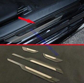 ل 2019 تويوتا كورولا E210 الرياضة هاتشباك Hatch أوريس الأسود سلك الرسم الفولاذ المقاوم للصدأ باب خارجي عتبة حماة