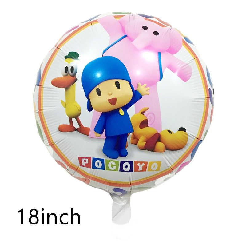 1 pcs Pocoyo Balões Folha Dos Desenhos Animados Balões De Ar Do Chuveiro de Bebê Festa Feliz Aniversário Decoração suprimentos crianças menino menina de brinquedo de presente globos