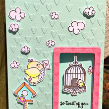 YaMinSanNiO Birds Airmail Clear Stamps and Dies Metal Cutting Die DIY Scrapbooking Card Album Embossing Craft Cut Template