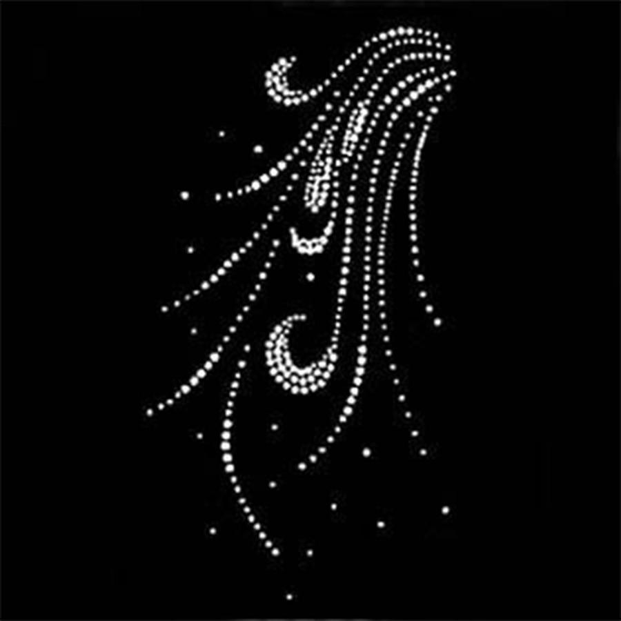 2018 10piece/lot Hot Fix Rhinestones Motif Crystal Pearl
