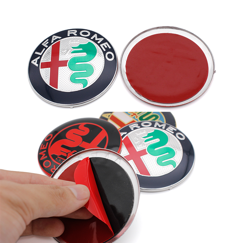 Image 3 - 2pcs 7.4cm ALFA ROMEO Car Logo emblem Badge sticker for Mito 147 156 159 166 Free shipping Specials sale Black white Color 74mm-in Car Stickers from Automobiles & Motorcycles