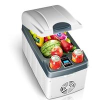 20L Mini Auto Clamshell Fridge Rapid Refrigeration Car Freezer Refrigerator LED Display Icebox Cooler Heater Low Noise