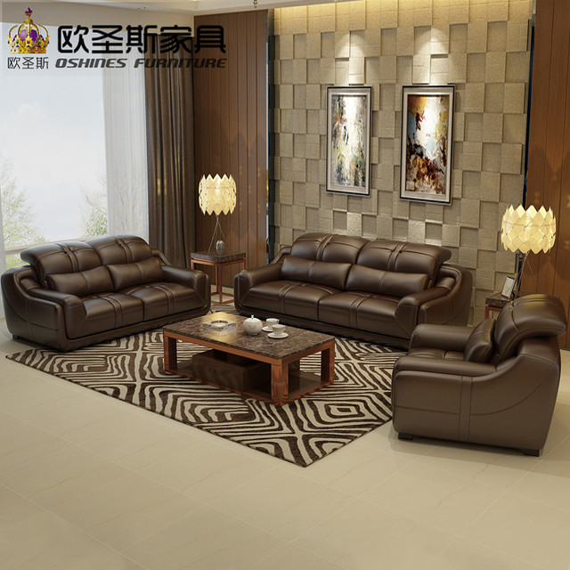 2017 New Design Italy Modern Leather Sofa ,soft Comfortable Livingroom Genuine  Leather Sofa ,real