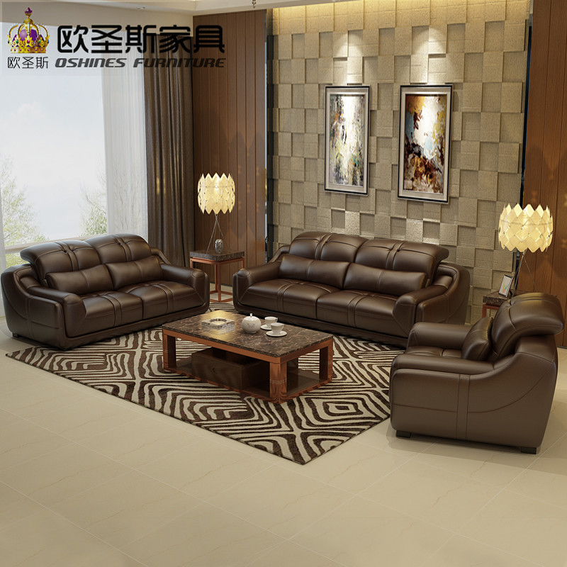 2019 nowy projekt włochy Nowoczesna skórzana sofa miękkie wygodne bawialnia sofa z prawdziwej skóry prawdziwe skórzany komplet wypoczynkowy 321 siedzenia L288A