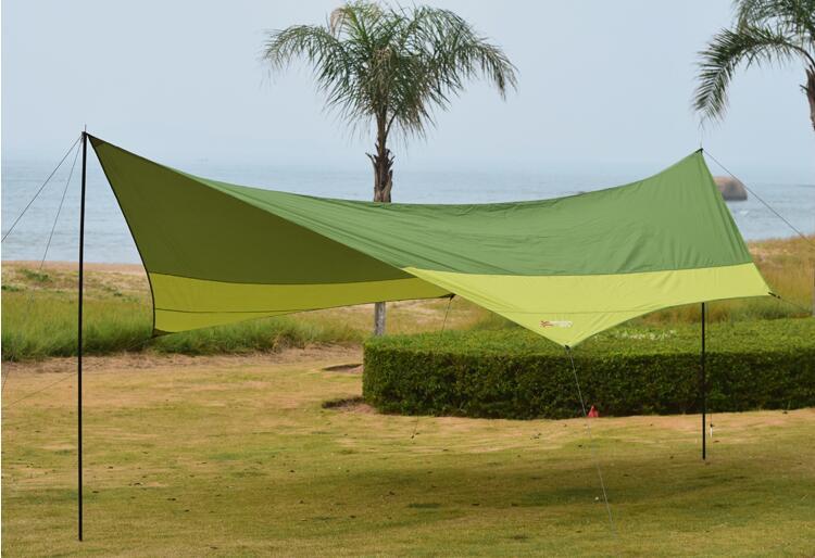 aliexpresscom buy 2016 sunshade tent king canopy 545m super large size uv car sunshade tenthexagonal punta rain awning tarp from reliable sunshade - Green Canopy 2016