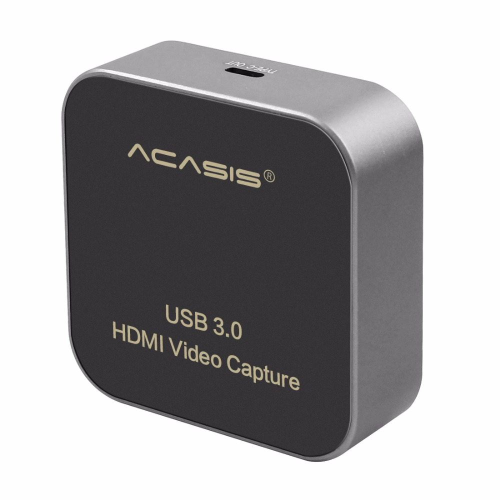 AC-HDCP USB 3.0 <font><b>HDMI</b></font> to Type-C 1080P HD <font><b>Video</b></font> <font><b>Capture</b></font> <font><b>Card</b></font> Box Drive-Free for TV PC PS4 Game Live Stream for Windows Linux Os X image