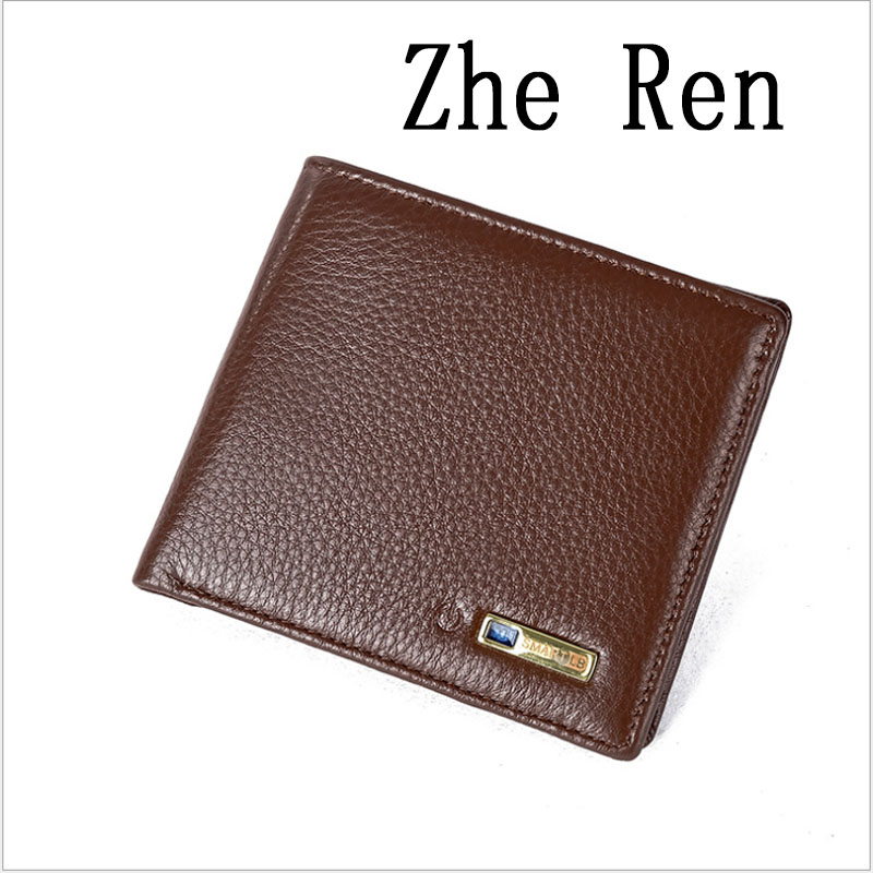 Genuine Leather Men Wallet sintelligent bluetooth anti loss anti theft Wallet Zip Coin Pocket Purse Cowhide Leather Wallet For цена и фото