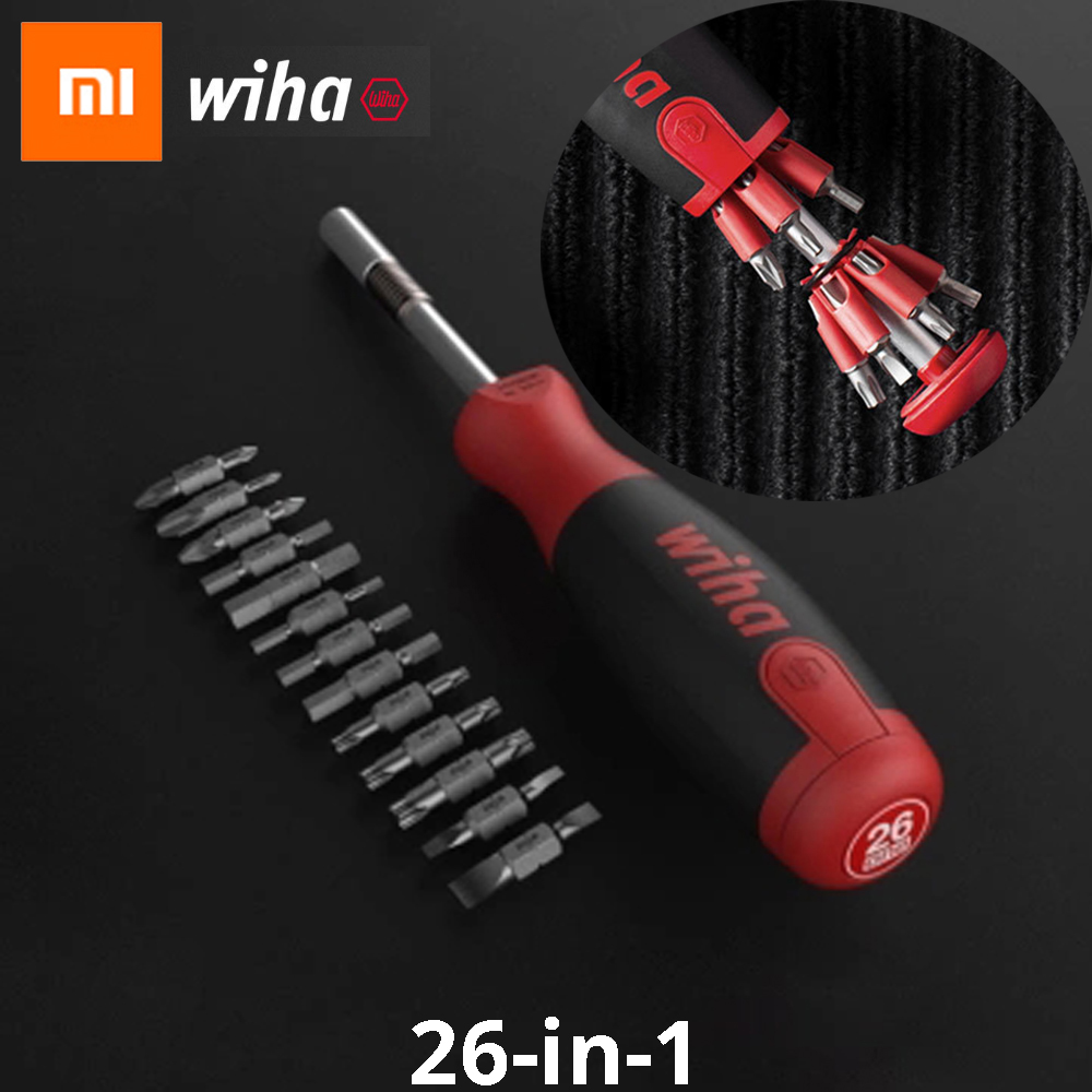 цена на Xiaomi mijia Wiha 26-in-1 Screw driver Kit with Hidden Magazine Design Precision Chrome Vanadium Steel Dual-end Mi Bits