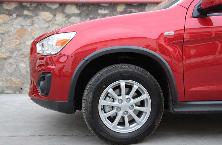 2013 2014 2015 For Mitsubishi ASX/Outlander Sport/RVR Front+Rear Wheel Arch Fender Flares Protector Kit 16pcs egr 752354 rugged look front and rear fender flares