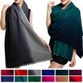 100% Da Marca Cachecol de Caxemira Cachecol Mulheres lenços Envoltório Foulard Echarpe Pashmina Xailes Gradiente Mulheres