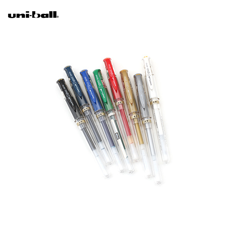 LifeMaster Genuine Japan Uni-ball Signo Broad UM-153 Gel Pen - 1.0 mm Blue/Black/Red/White/Silver/Gold Design DIY Supplies