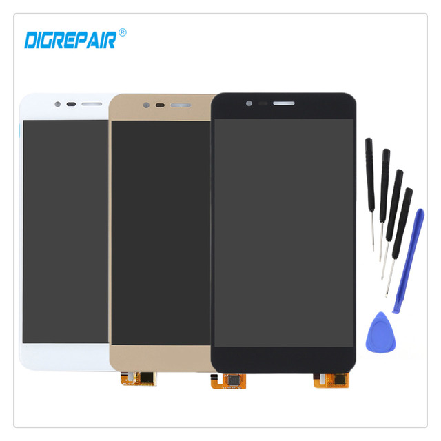 """5.3"""" AAA Black/White/Gold For Asus Zenfone 3 Max ZC520 X008D Display LCD Touch Screen Digitizer Assembly Replacement Parts+Tools"""