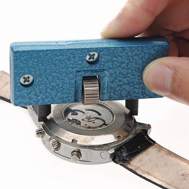 מתכוונן שעון פותחן חזרה מקרה כלי עיתונות Closer מסיר ברגים שעון סוללה מסיר בורג ברגים תיקון שען כלים
