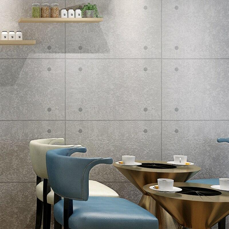 Moderne Einfache Grau Zement Clinch Retro Hintergrund Wand Pvc Tapete  Wohnzimmer Bar Cafe Restaurant Wasserdicht