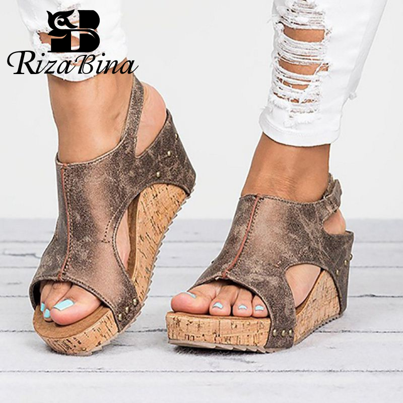 RIZABINA Vintage Retro Women Sandals Chunky High Heel Ladies Summer Open Toe Shoes Zapatos Mujer Woman Wedge Footwear 35-43RIZABINA Vintage Retro Women Sandals Chunky High Heel Ladies Summer Open Toe Shoes Zapatos Mujer Woman Wedge Footwear 35-43