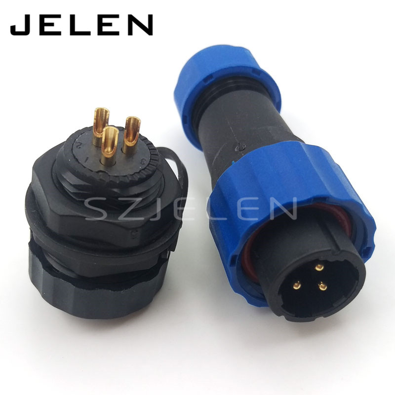 SD16 3 pin waterproof connector, power connector wire, 3 pin cable connectors, automotive connectors, male and female, IP68 free shipping 1set 2 3mm 2 3 4 6 8 10 male female sumitomo female automotive electric wire cable connector include 6090 1131