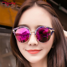 WtgwtQ Cat Eye Sunglasses Women Brand Designer Fashion Coating Mirror Sexy Cateye Sun Glasses For Female UV400 Women's Glasses