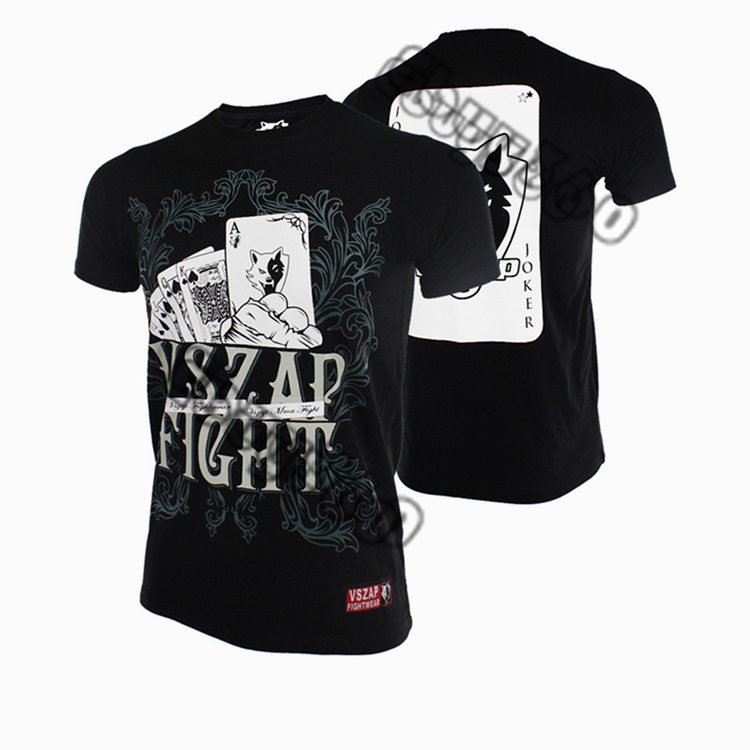 VSZAP Poker  Combat Fitness MMA Short-sleeved T - Shirt Contortion For Training The Venomous Movement Fighting.